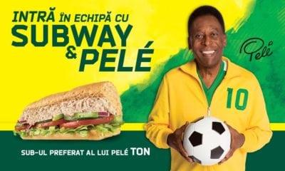 Parteneriat Subway si Pelé