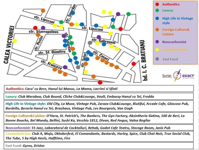 Harta Localurilor Din Centrul Vechi Revista Biz