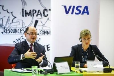Cat au platit romanii cu carduri Visa in 2014