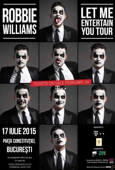 Robbie Williams, la Bucuresti pe 17 iulie