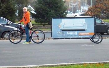 Bikevertising pentru un plus de mobilitate