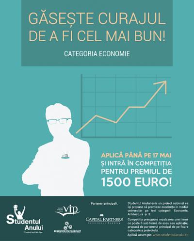 Studentul Anului ofera 1500 euro