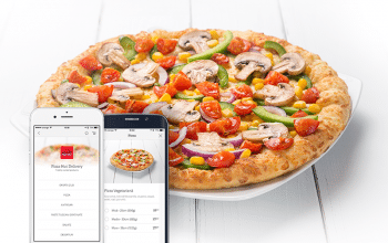 Pizza Hut Delivery, pe platforma hipMenu