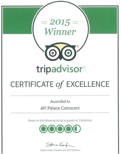 Trip Advisor premiaza AFI Palace Cotroceni