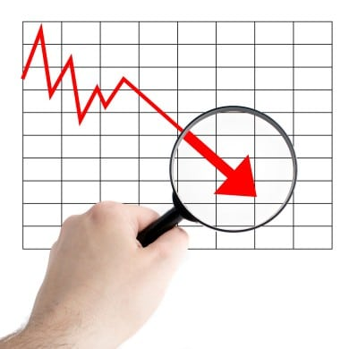 Inflatie negativa, prima oara dupa 1989