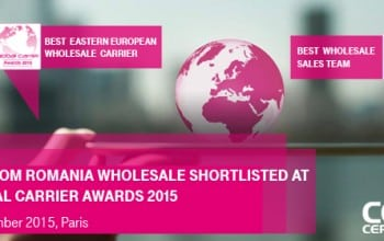 Telekom Romania, nominalizata in finala Global Carrier Awards 2015