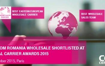 Telekom Romania, nominalizata in finala Global Carrier Awards 2015