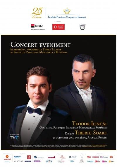 Tenorul Teodor Ilincai si dirijorul Tiberiu Soare pe scena Ateneului Roman