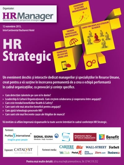 HR Strategic 2015 are loc pe 12 noiembrie