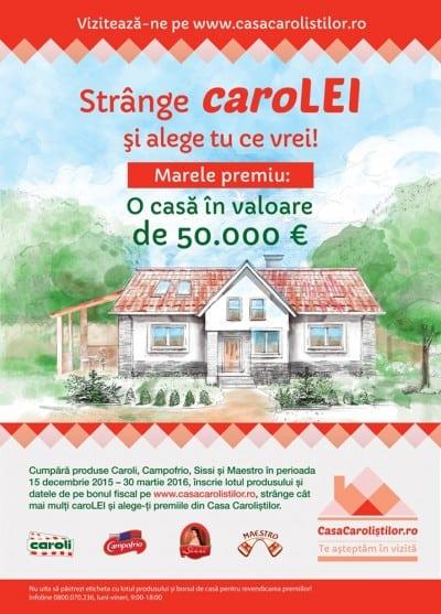 50.000 de euro, marele premiu din Casa Carolistilor