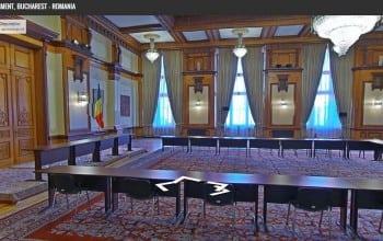 Tururi virtuale prin Palatul Parlamentului cu Google Street View