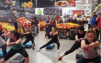 Sesiuni de fitness in Carrefour Romania