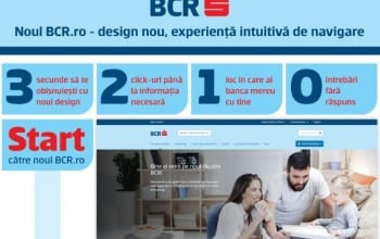 BCR a relansat site-ul www.bcr.ro