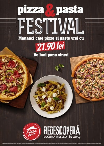 Pizza Hut introduce pastele in oferta Pizza Festival