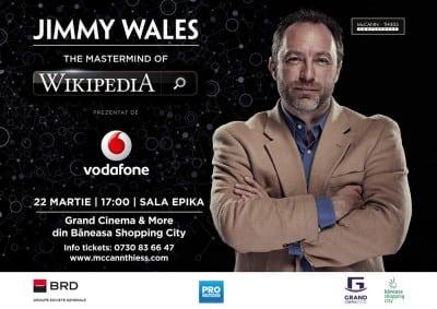 Jimmy Wales, fondatorul Wikipedia, vine pe 22 martie la Bucuresti