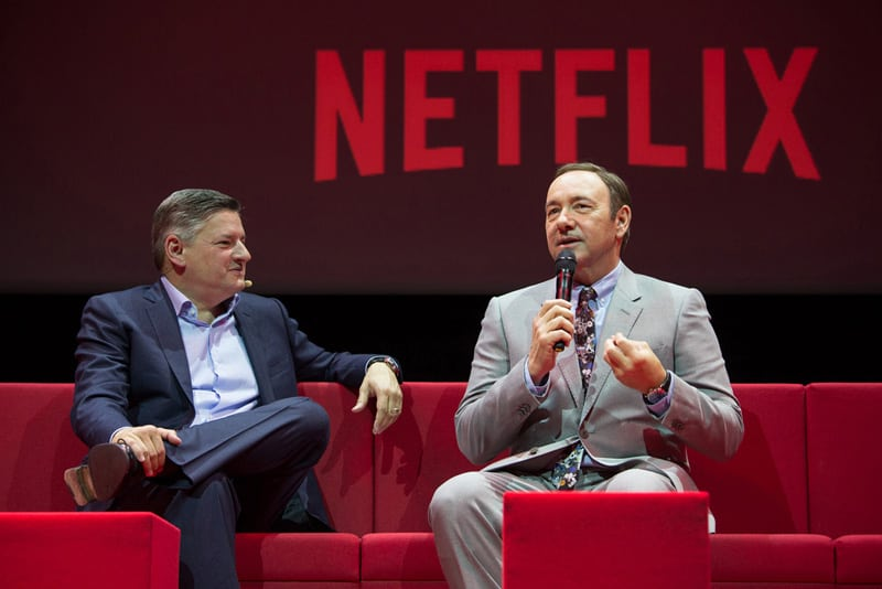 Netflix Event, Paris 11.04.2016 House of Cards Panel (L-R) Ted Sarandos, Kevin Spacey