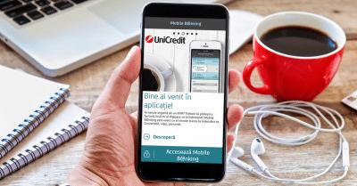Autentificare cu amprenta in Mobile Banking de la UniCredit