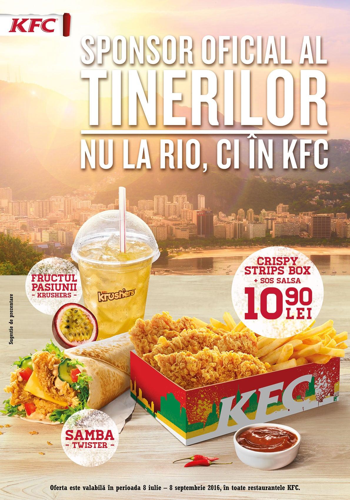 KFC _Sponsor oficial al tinerilor