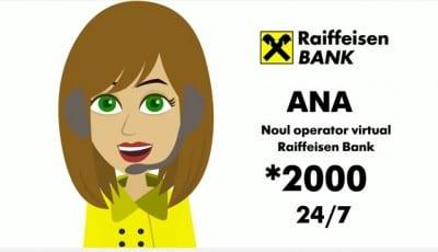 Raiffeisen Bank are un operator virtual in Call Center