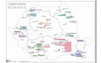 Harta cramelor turistice din România