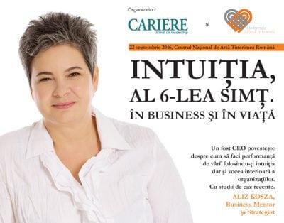 Intuiția, al 6-lea simț. În business si în viață