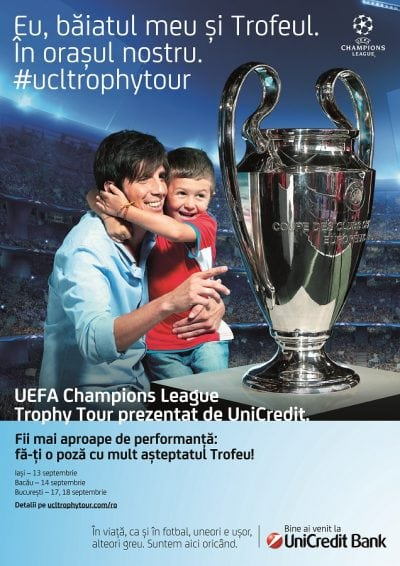 România , prima țară pe harta Trofeului UEFA Champions League