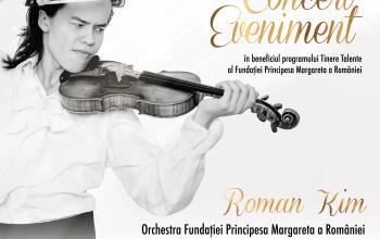 Violonistul Roman Kim şi dirijorul Tiberiu Soare pe scena Ateneului Român