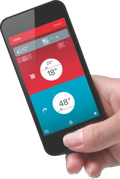 Centrala termică, controlată pe smartphone