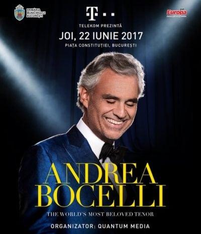 Andrea Bocelli, din nou în România