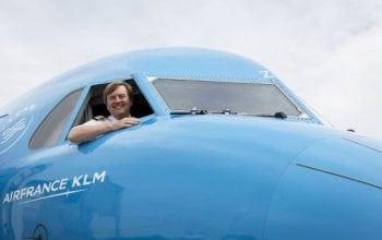 Un rege la manșa avioanelor KLM