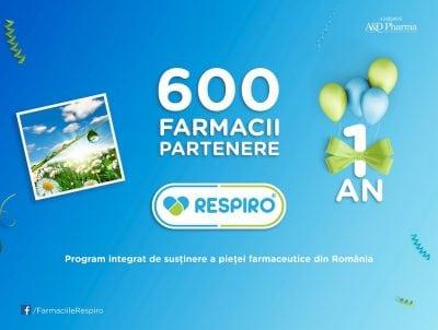 600 de farmacii, în programul Respiro