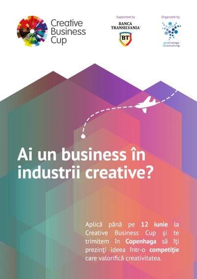 Ești antreprenor în industrii creative? Aplică la Creative Business Cup până pe 12 iunie