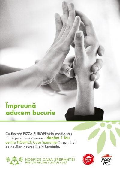Pizza Hut şi PHD dau speranță celor diagnosticați cu boli incurabile
