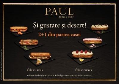 Brutăriile Paul introduc sortimente noi de eclere dulci şi sărate