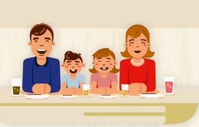 Românii și masa în familie