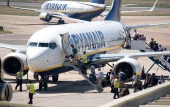 Traficul Ryanair, în creştere