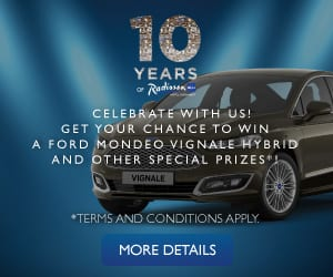 10 years Radisson - win a Ford Mondeo Vignale Hybrid
