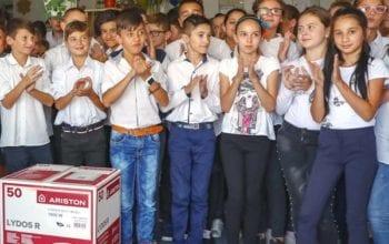 Ariston Thermo România, donație de 400 de boilere pentru școli și azile