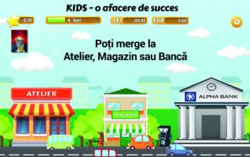 Prima aplicație de educație financiară pentru copii