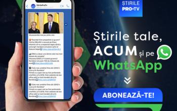 ȘtirilePROTV.ro: newsletter zilnic pe WhatsApp