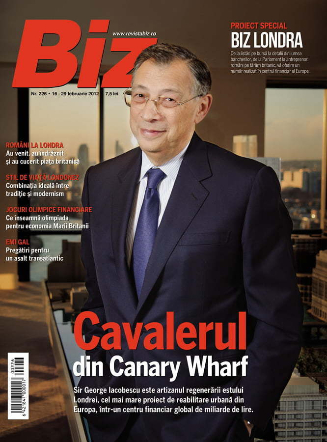 Biz magazine cover - Biz London