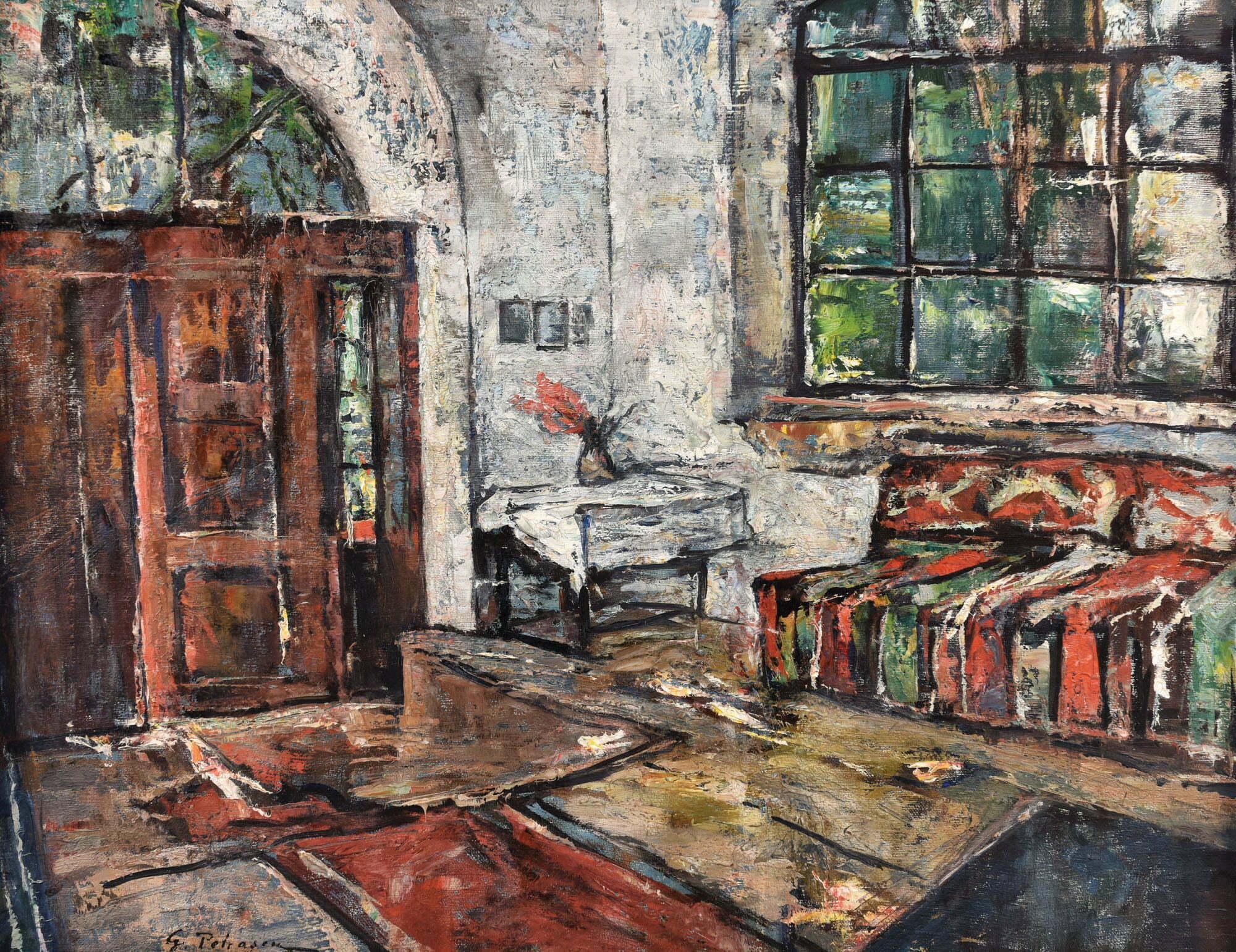 Gheorghe Petrașcu, Interior la Viforâta